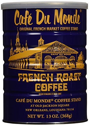 Cafe Du Monde French Roast Dark Coffee, 13 Ounce - New Orleans French Coffee