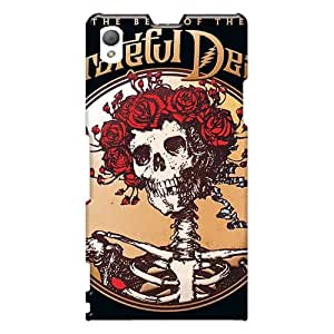 Shock Absorption Cell-phone Hard Cover For Sony Xperia Z1 With Support Your Personal Customized Vivid Grateful Dead Image Icase88