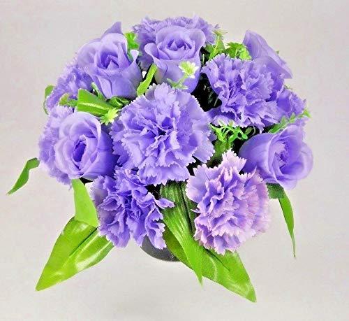 Artificial Grave Flower Arrangement Crem Pot//Vase