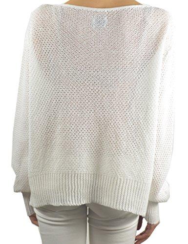 Annalisa Bucci Cashmere, Jersey para Mujer Blanco (Bianco)
