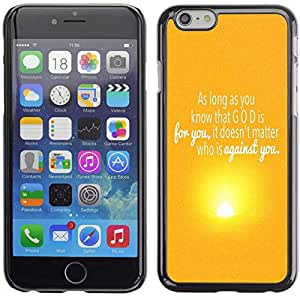 """Planetar® ( Bible Verse-GOD IS FOR YOU ) 5.5"""" iPhone 6 Plus Fundas Cover Cubre Hard Case Cover"""