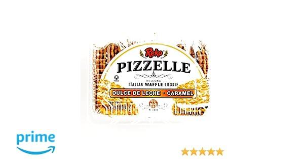 Amazon.com: Reko Dulce De Leche Pizzelle Cookies 5.25 oz each (3 Items Per Order)