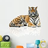 great tiger wall decals Wallmonkeys Tiger Wall Decal Peel and Stick Graphic (48 in H x 48 in W) WM221894
