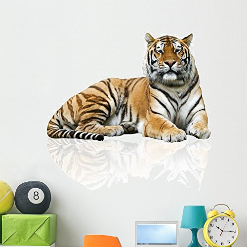Wallmonkeys Tiger Wall Decal Peel and Stick Graphic (48 in H x 48 in W) WM221894