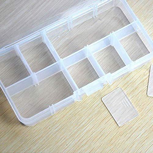 Kekailu Portable 10/15/24 Compartment Detachable Jewelry Bead Storage Case Organizer Box #01