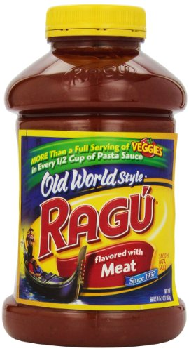Ragu Spagetti Sauce Flavored with Meat, 66 oz