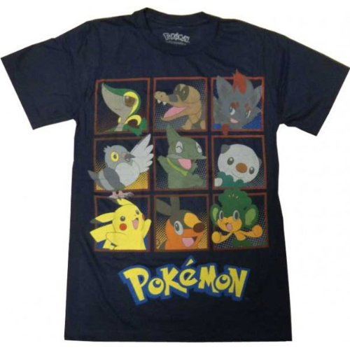 Pokemon characters navy blue men t shirt l buy online for Navy blue shirt online