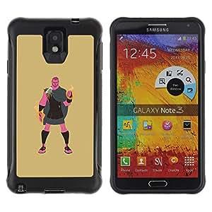 LASTONE PHONE CASE / Suave Silicona Caso Carcasa de Caucho Funda para Samsung Note 3 / Greek Hero Hercules Demigod Mystical