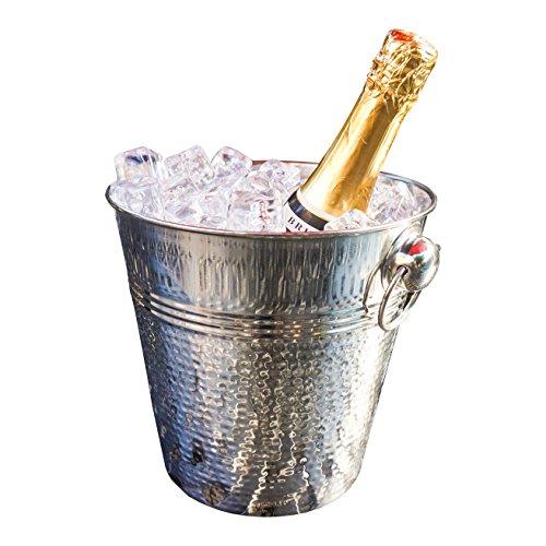 BREKX Napoli Hammered Stainless Steel Luxury Wine Ice Bucket by BREKX