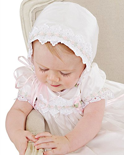 Tess 18 Month Silk Christening Baptism Blessing Gown for Girls, Made in USA by One Small Child (Image #1)