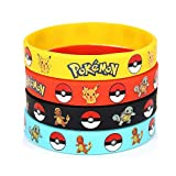 Pokemon Silicone Wristband Bracelet Great Party Favors and Loot Bags - 12 piece Bundle - Pokemon Themed Party
