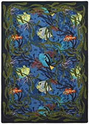 Joy Carpets 1501B Under the Sea 3 ft. 10 inch x 5 ft. 4 inch 100 Pct. STAINMASTER Nylon Machine Tufted- Cut Pile Nature Rug