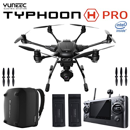 YUNEEC TYPHOON H PRO Drone Intel RealSense + Backpack + Two Batteries...