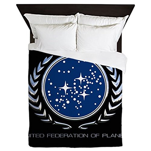 CafePress - Star Trek Federation Emblem - Queen Duvet Cover, Printed Comforter Cover, Unique Bedding, Luxe