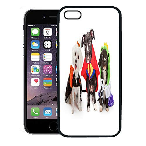 Semtomn Phone Case for iPhone 8 Plus case,Three Cute Little Puppy Dogs Dressed Up in Halloween Costumes Including Witch and Frog Prince iPhone 7 Plus case -