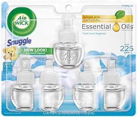 Air Wick Scented Oil 5 Refills, Snuggle Fresh Linen, 3.38 FL.OZ.