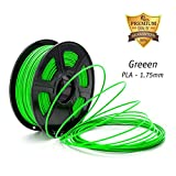 1.75mm PLA 3D Printer Filament,2.2lbs(1KG) Spool,Dimensional Accuracy+/-0.02,Compatible for Most 3D printer/3D Pen, Dazzle Light Green PLA,