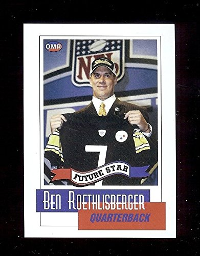 BEN ROETHLISBERGER first 1st card Pittsburgh Steelers 2004 Rookie OMR Draft Day Football RC