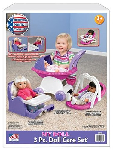 American Plastic Toy My Doll 3 Piece Play Set by American