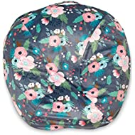 Boppy Boutique Newborn Lounger Cover, Gray Floral
