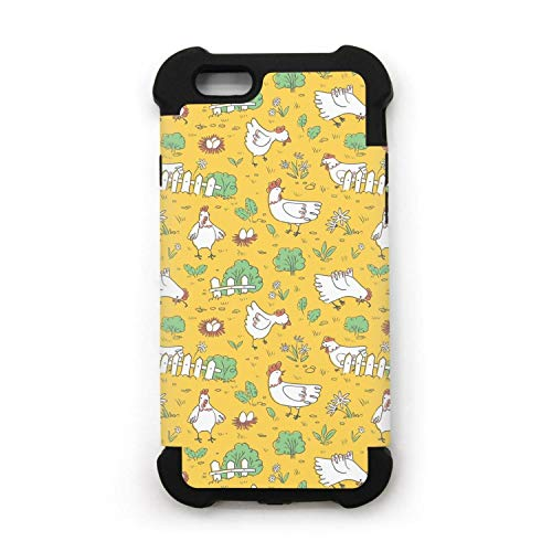yuwerw fgqq chickens and eggs cool unique waterproof cell phone cases for iPhone 6/iPhone 6s protective phone cases Mobile Shell Double Case Cover iphone holder -