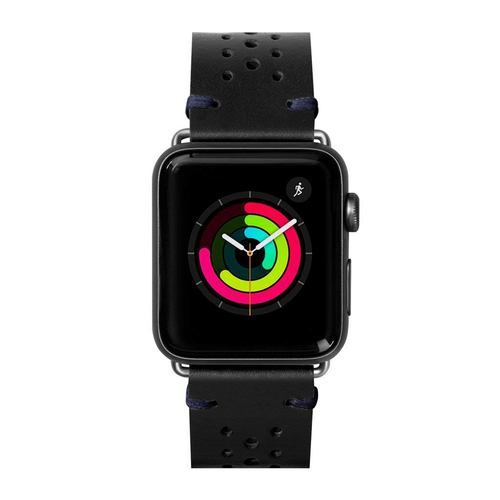 Heritage Watch Strap for Apple Watch Series 1/2/3/4 (42mm / 44mm • Jet Black) by LAUT