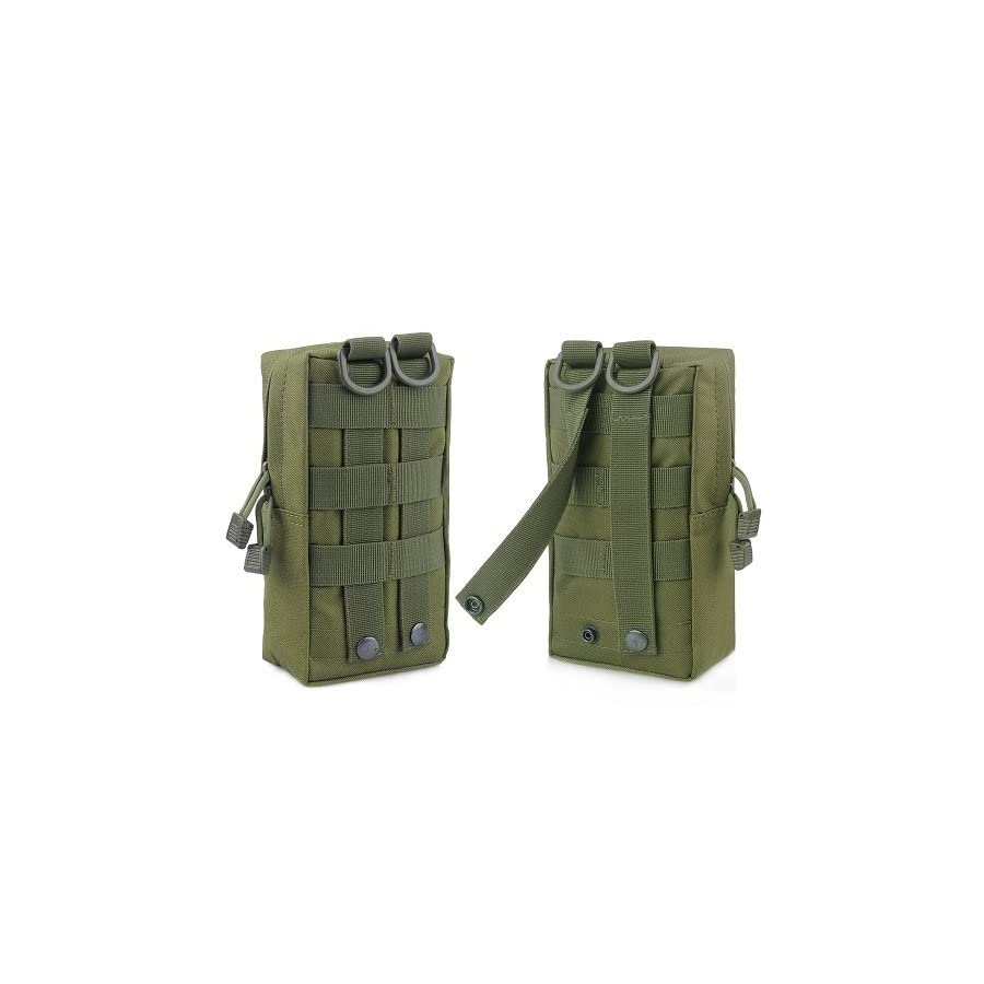 FUNANASUN 2 Pack Molle Pouches Tactical Compact Water Resistant EDC Pouch