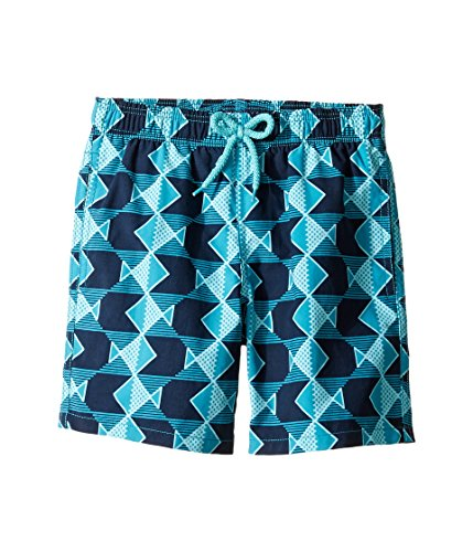 Vilebrequin - Graphic Fishes Boy Swimwear  - Boys - 10 years - Prussian Blue by Vilebrequin