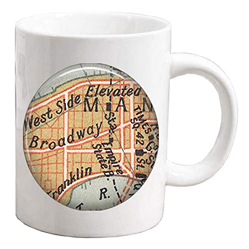 Broadway map Coffee Mug,Times Square map Mug,actress gift,Charm Building,theatre Mug,theater gift-ZE007