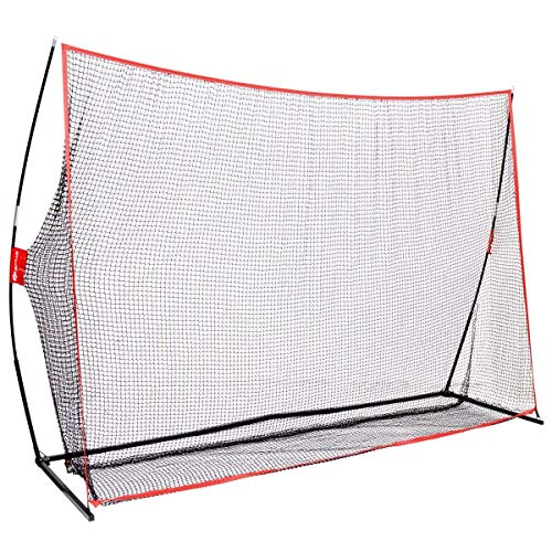 GOPLUS 10' x 7' Golf Net Hitting Net Practice Driving Indoor and Outdoor Golfing at Home Swing Training Aids with Carry Bag, Suitable for Garden Patio Balcony Courtyard (Red)