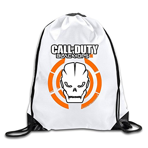 Custom Crazy Cool Call Of Duty World War II Black Ops II Drawstring Hiking Backpack Drawstring Travel Sports Backpack (World War 2 Backpack)