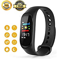 M3 Intelligence Bluetooth Health Wrist Smart Band Watch Monitor/Smart Bracelet/Health Bracelet/Activity Tracker/Smart Fitness Band Compatible for All Androids and iOS Phone