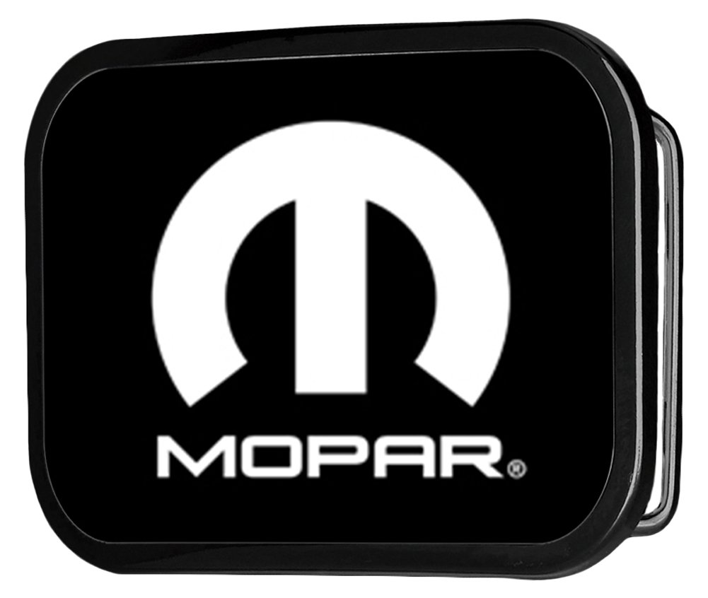 Mopar Automotive Part Company White M Logo Rockstar Belt Buckle Buckle Down