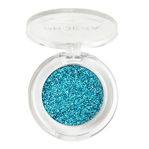 Honhui PHOERA Glitter Shimmering Colors Eyeshadow Pallets Metallic Eye Cosmetic (Sky blue)