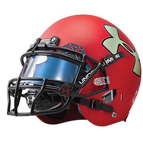Under Armour Standard Football Helmet Visor with Halogram, Grey/Blue