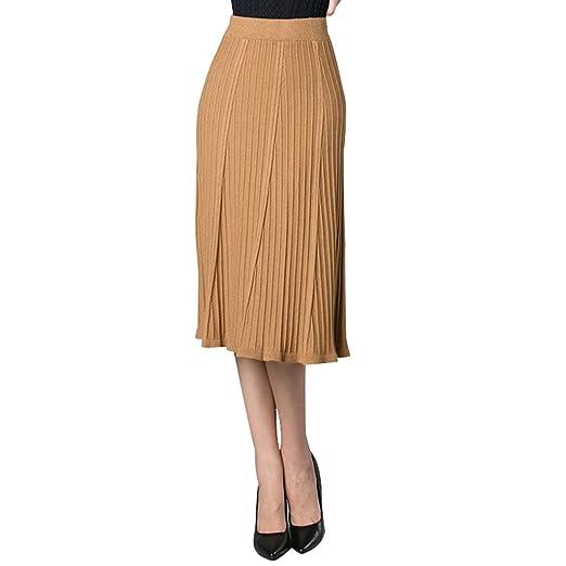 JIN PING® Faldas, falda de lana de las mujeres de invierno de ...