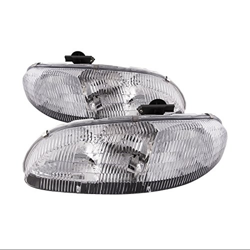 Headlights Depot Replacement for Chevrolet Chevy Lumina/Monte Carlo New Headlamps Set Headlights Pair