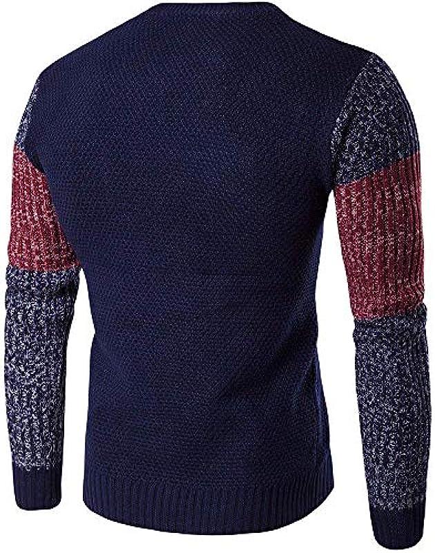 Jesień i zima męski sweter Nner Hit Color ciepły Classic sweter gruby długi rękaw sweter dziany sweter chłopięcy: Odzież