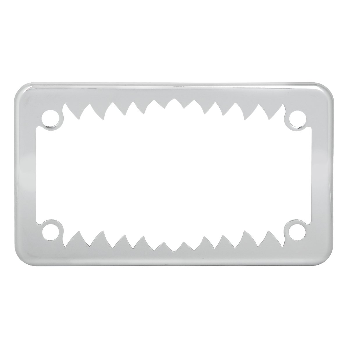 Grand General 60392 Chrome Shark Teeth Motorcycle License Plate Frame