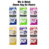 Cotton Candy Sugar Floss Mix Flavors, Case of 6-1/2 Gallon Cartons