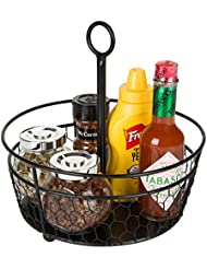 Superieur MyGift 9 Inch Metal Chicken Wire Tabletop Condiment Caddy
