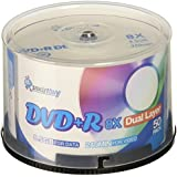 Smart Buy Logo 50 Pack DVD Plus R DVD+r Dl 8.5gb 8X Double Layer Blank Data Record 50 Discs Spindle