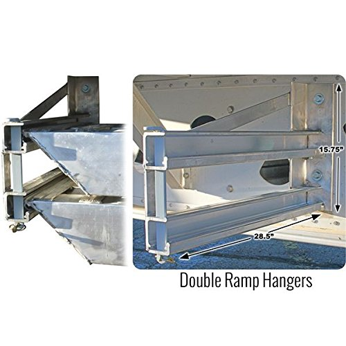 Semi-Trailer Loading Ramp Storage Brackets for Two 5'' Thick Ramps - 18 '' or 20'' Wide, Bolt-On by Discount Ramps (Image #2)