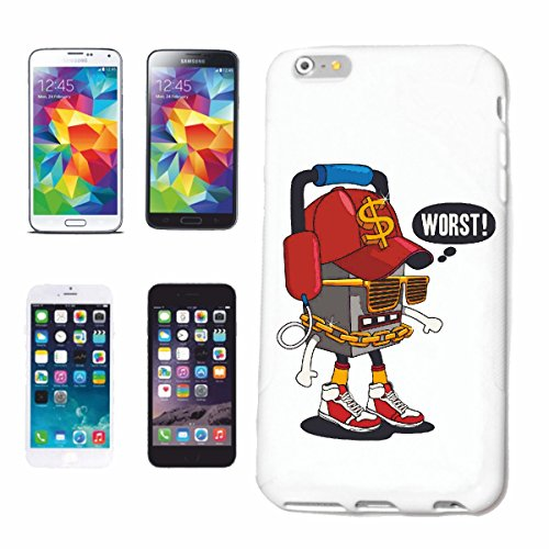 "cas de téléphone iPhone 7 ""PIRE ROBOT AVEC CASQUES ET LUNETTES SNEAKERS COOL ET CHAINE LIFESTYLE GOLD FASHION STREETWEAR HIPHOP SALSA LEGENDARY"" Hard Case Cover Téléphone Covers Smart Cover pour Apple"