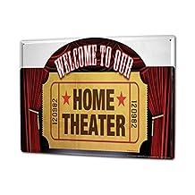 Tin Sign XXL Retro Welcome theater