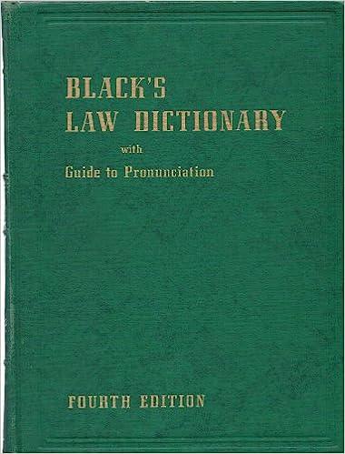 Blacks Law Dictionary