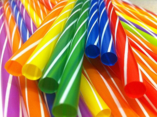 80PCS MULTICOLOUR MILKSHAKE JUMBO SMOOTHIE THICK DRINK DRINKING STRAW PARTY (2)