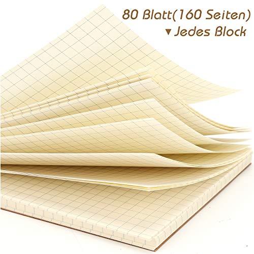 HAKACC A6 Spirale Notizblock, 8 Stück Klein Notizbuch 80 Blatt Notizheft Skizzenblock Journal Tagebuch Schreibblock Zeichenblock