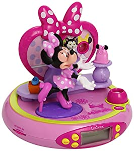 lexibook minnie mouse alarm clock radio with bow tique projector minnie mouse. Black Bedroom Furniture Sets. Home Design Ideas