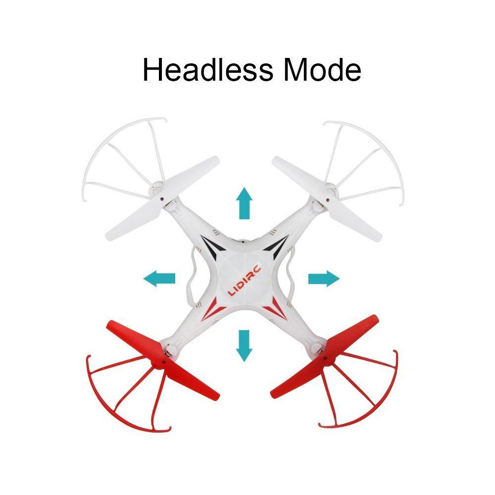 wei/ß Kinder RC Flugzeuge LIDI 2,4 GHz 6-Achsen-Gyro 360 /° Flip Headless Modus RC Quadcopter mit 0.3MP HD Kamera f/ür Anf/änger